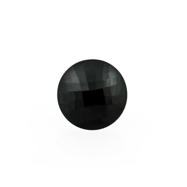 Falkenauge, dunkelblau, Briolett, facettiert, rund, 10 mm
