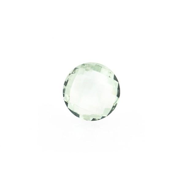 Prasiolith (Amethyst, grün), Briolett, facettiert, rund, 8 mm