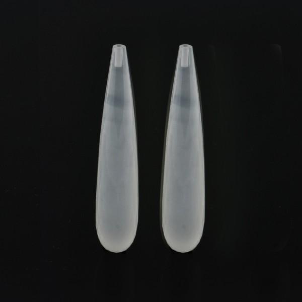 Milchquarz, weiß, Pampel, facettiert, 35x8 mm