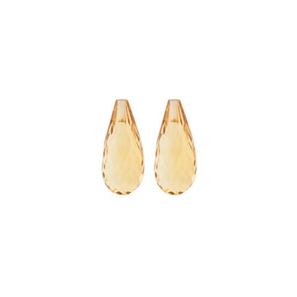 Citrin, goldfarben, Pampel, facettiert, 15x6 mm