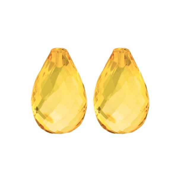 Bernstein (natur), goldfarben, Pampel, facettiert, Harlekin, 22x14x8.5mm