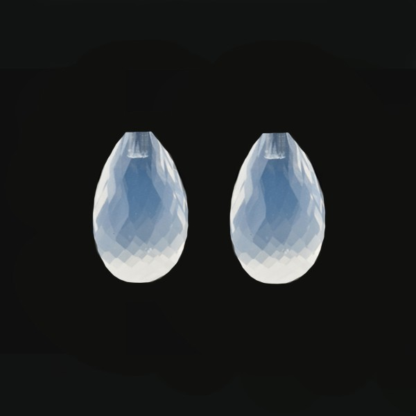 Citrin, weiß, Pampel, facettiert, Harlekin, 18x11mm