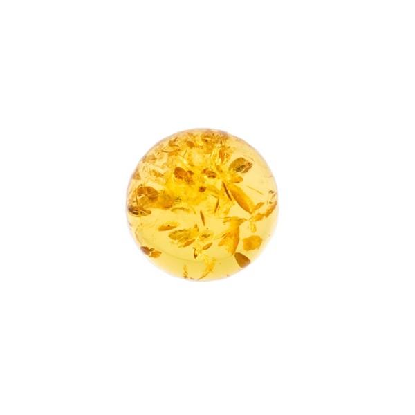 Bernstein (natur), goldfarben, Cabochon, rund, 8mm