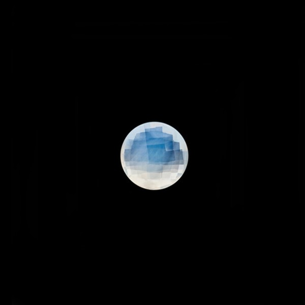 Citrin, weiß, Briolett, facettiert, rund, 6 mm