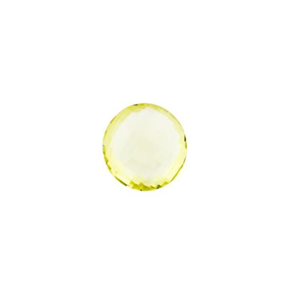 Lemonquarz, lemon, hell, Briolett, facettiert, rund, 8 mm