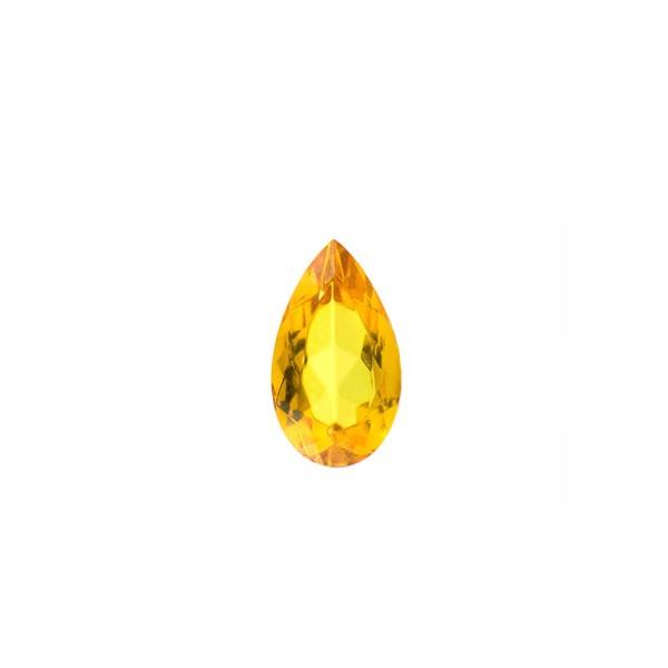 Bernstein (natur), goldfarben, facettiert, Birnenform, 10x7 mm
