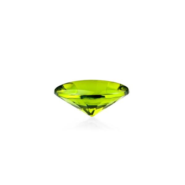 Bernstein (natur), grün, Buff Top, concave, rund, 12mm