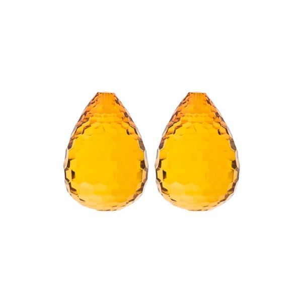 Bernstein (natur), cognacfarben, Pampel, concave, 17x13mm