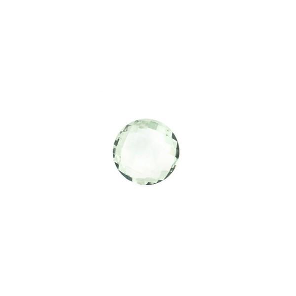 Prasiolith (Amethyst, grün), Briolett, facettiert, rund, 6 mm