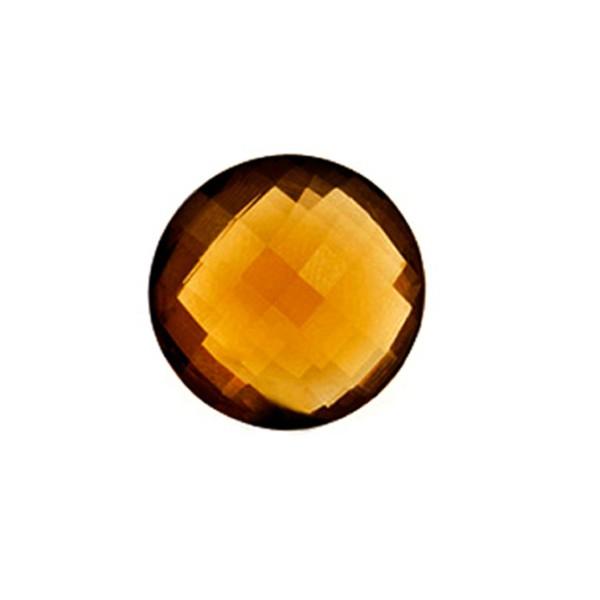 Cognacquarz, cognacfarben, Briolett, facettiert, rund, 12mm