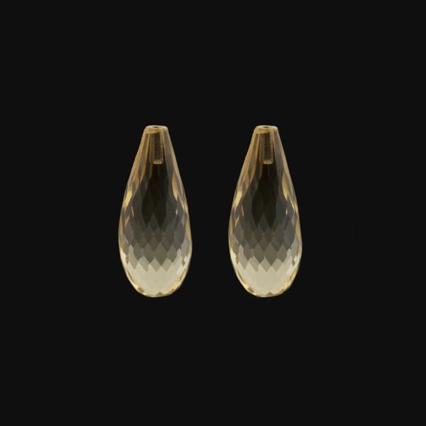 Citrin, goldfarben (hell), Pampel, facettiert, 22x10 mm