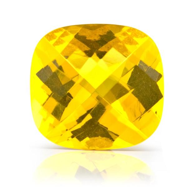 Bernstein (natur), goldfarben, facettiert, Schachbrett, diagonal, antik, 16x16 mm
