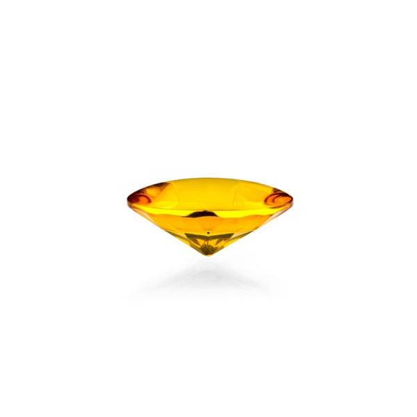 Bernstein (natur), goldfarben, Buff Top, concave, rund, 12mm