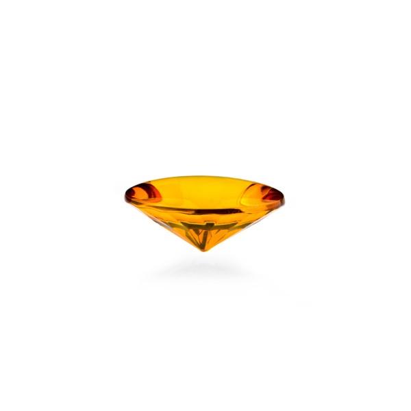 Bernstein (natur), cognacfarben, Buff Top, concave, rund, 12mm
