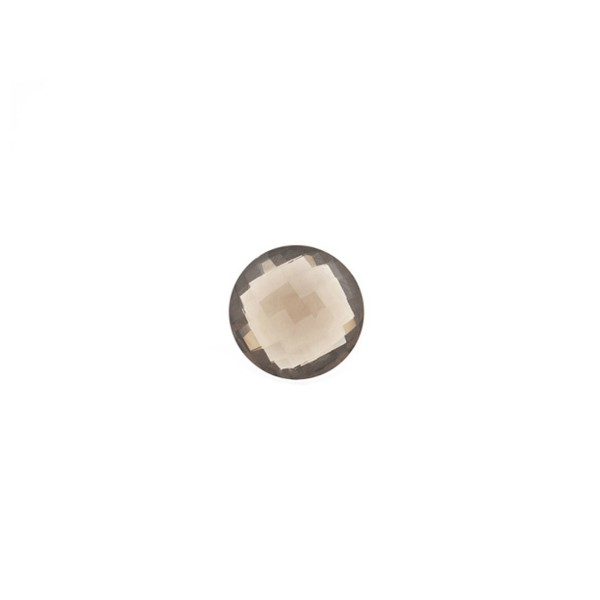Rauchquarz, mittelbraun, Briolett, facettiert, rund, 6 mm